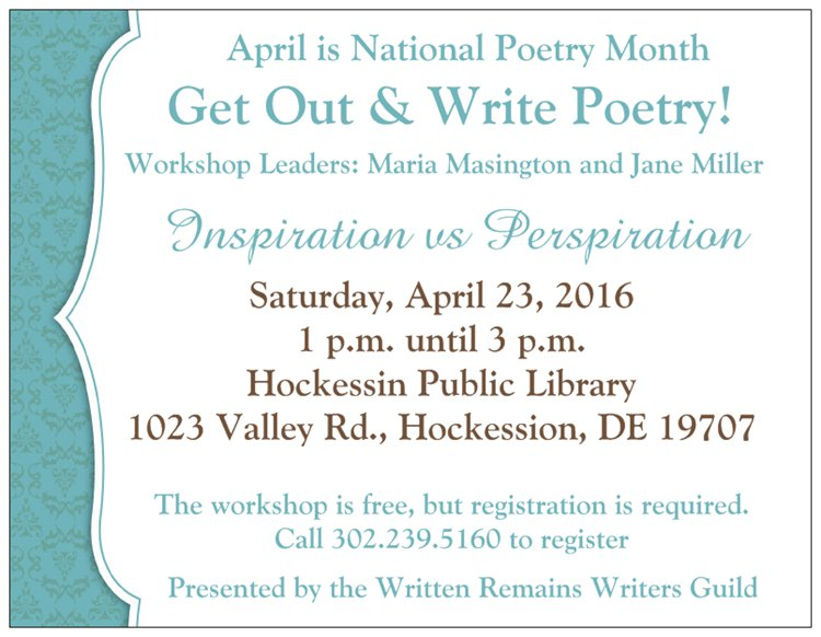 national poetry writing month I have been looking forward to and preparing for national poetry month since february april is also national poetry writing month.