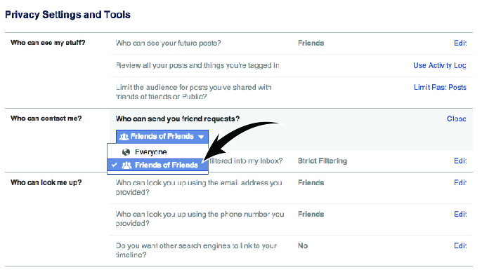how to make my facebook private search