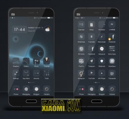 Tema Xiaomi Blank Space Reborn Aka BSR 999 Mtz Update Black Theme For MIUI