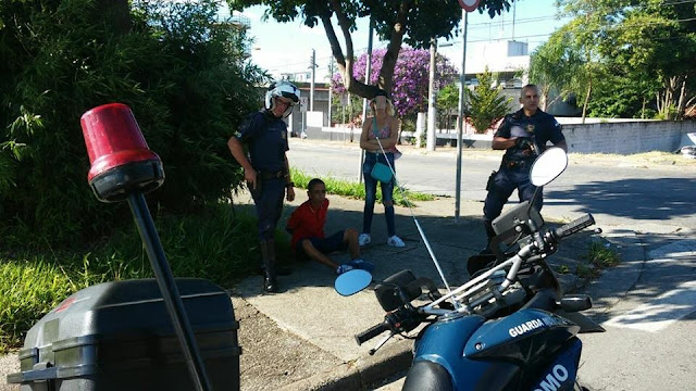 ROMO da GCM de Santo André detém elemento na Vila Guiomar de posse de celular produto de roubo