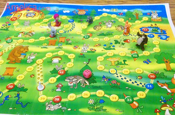 Игра ходилка для детей «Лесная полянка»