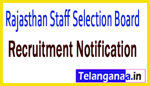 Rajasthan Staff Selection Board RSSB Recruitment