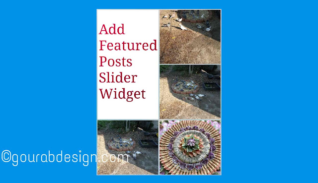 install blogger featured post slider widget