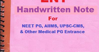 PDF] Handwritten note of ENT - Online Preparation for NEET