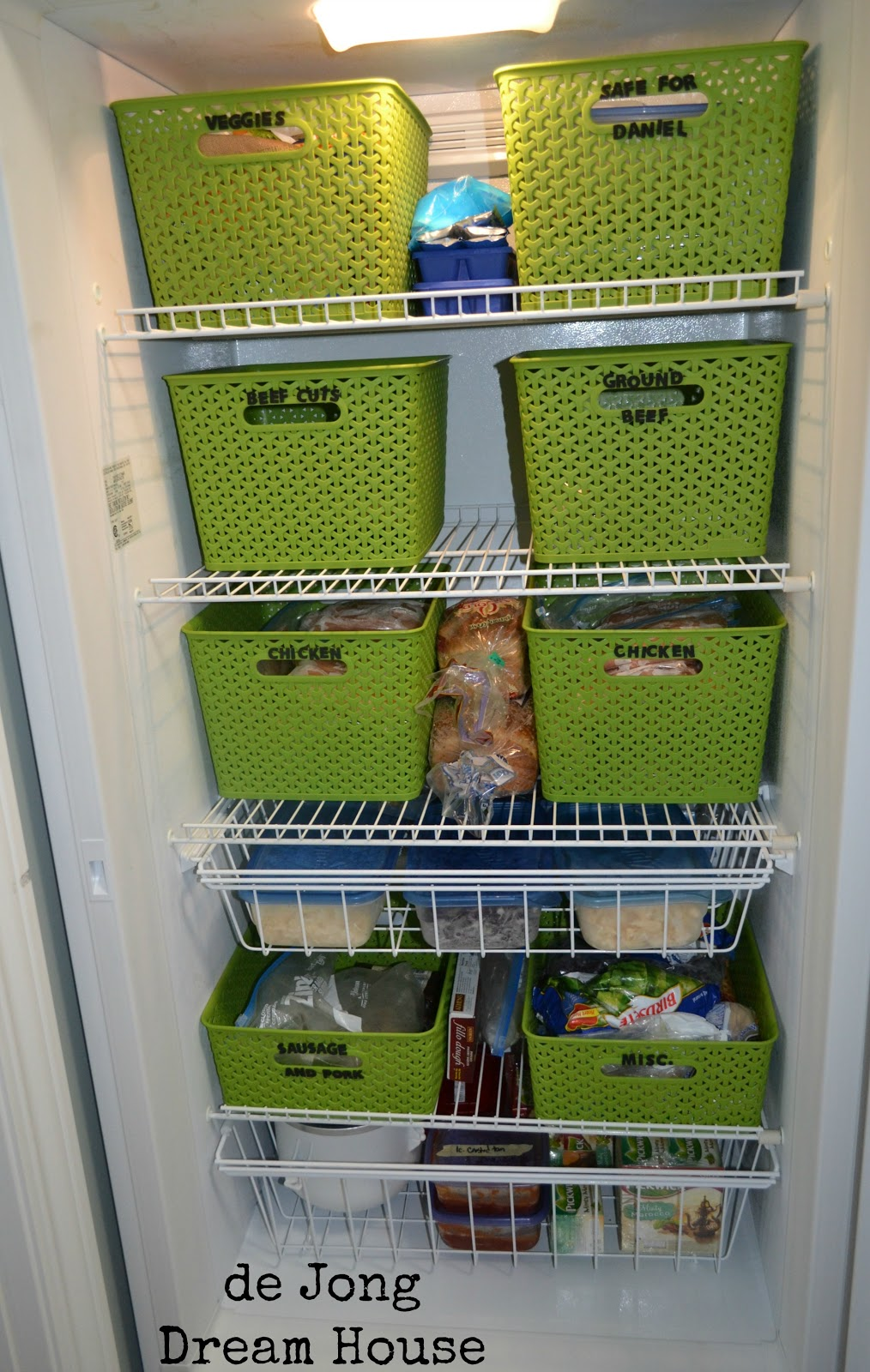 De Jong Dream House Organizing The Freezer