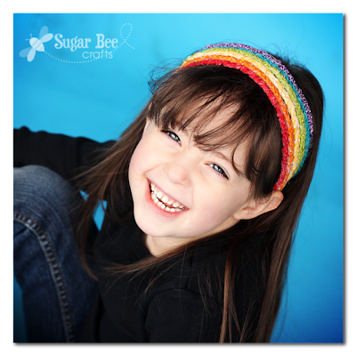Braided Rainbow Headband by Mandy Beyeler