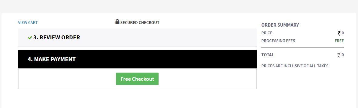 PSC Free Checkout