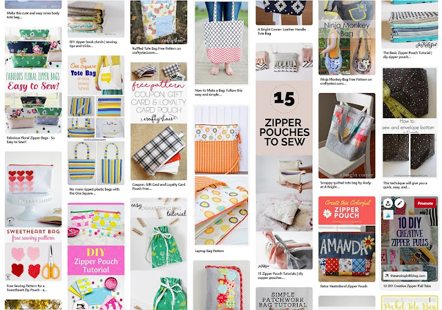 Bags and Pouches Pinterest Board from A Bright Corner