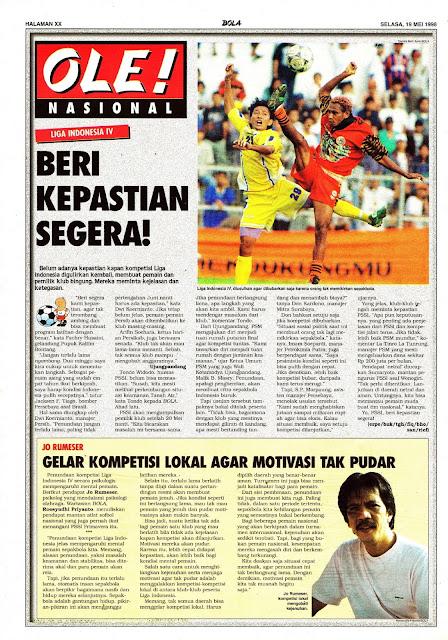 LIGA INDONESIA IV BERI KEPASTIAN SEGERA