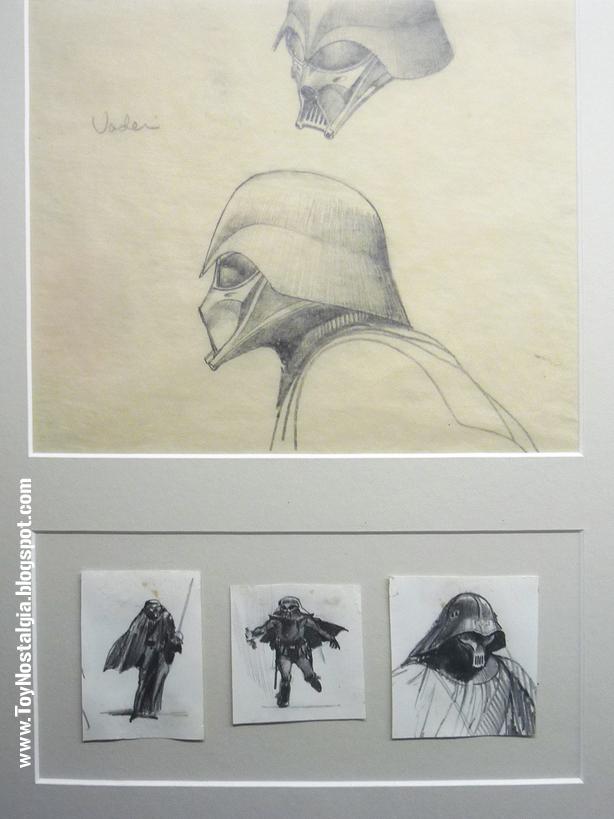 """Dart Vader concept Ralph McQuarrie  realizó de Darth Vader  """"Episodio IV - STAR WARS - Una Nueva Esperanza""""  (STAR WARS - The Exhibition)"""