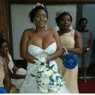 Busty Bride Flaunts Her Gigantic Boobs In Racy Wedding Dress, Media React