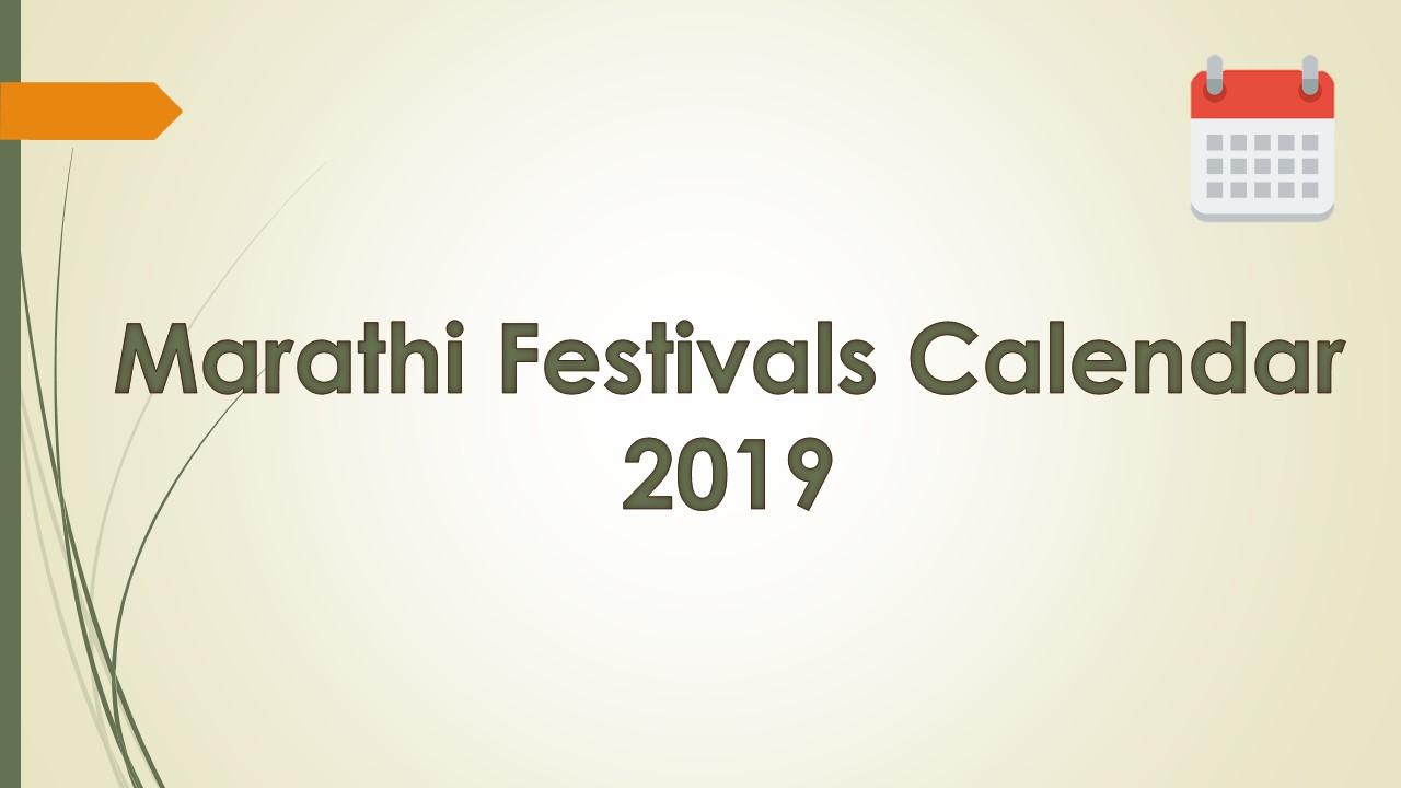 Marathi Festivals Calendar 2019 based on New Delhi, NCT