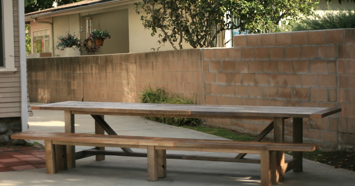 Arbor Exchange Reclaimed Wood Furniture 12 Foot Outdoor