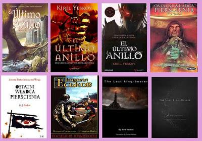 portadas del libro de fantasía humorística El último anillo, de Kiril Yeskov