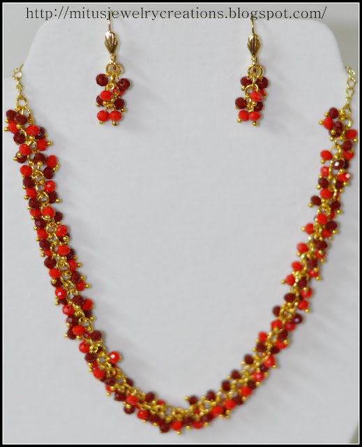 Striking and beautiful necklace and earring set