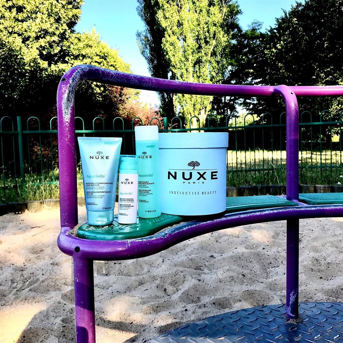 zdjęcie kosmetyków Nuxe Aquabella do cery mieszanej