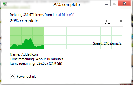 Windows 8 - Delete Progress Dialog | Technobabble