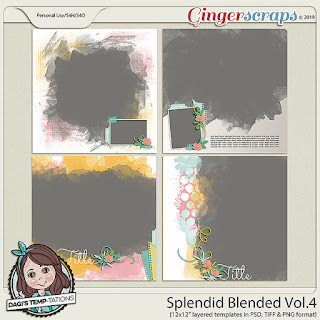 Creative Team, Annemarie, for GingerScraps -  Splendid Blended Vol. 4, Dagi Temp-tations  and Hop Into Spring by JB Studio
