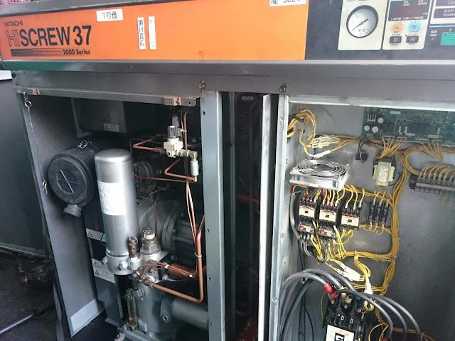 bán máy nén khí cũ hitachi công suất 37 kw đời cao