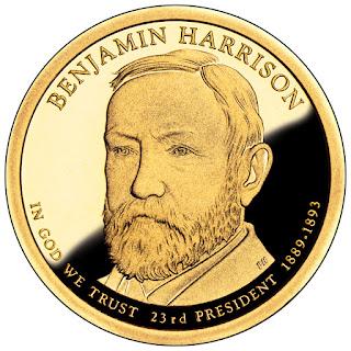 Benjamin Harrison 2012 US Presidential One Dollar Coin