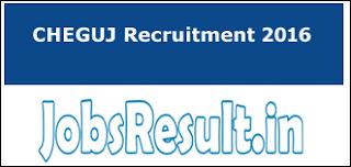 CHEGUJ Recruitment 2016