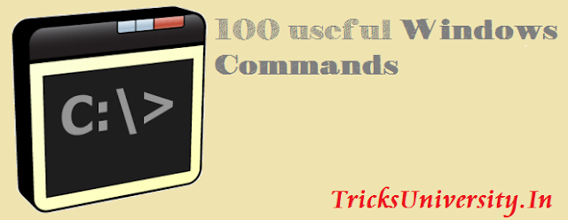 100 Windows CMD Commands 2016 Collection