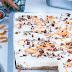 Carrot Cake Cheesecake Bars oder Möhren-Käsekuchenkuchen vom Blech