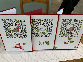Feathers and Frost Christmas Cards, coffee and cards
