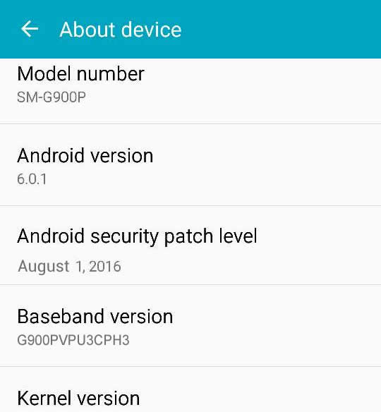 Sprint Galaxy S5 Update G900PVPU3CPH3 Android Security Patch