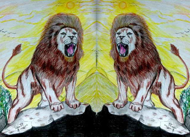 PENCIL DRAWING - LION