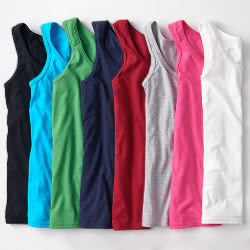 Custom Womens Basic Cotton Tank Top - Color Choices
