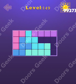 Cheats, Solutions, Walkthrough for Move Blocks Easy Level 149