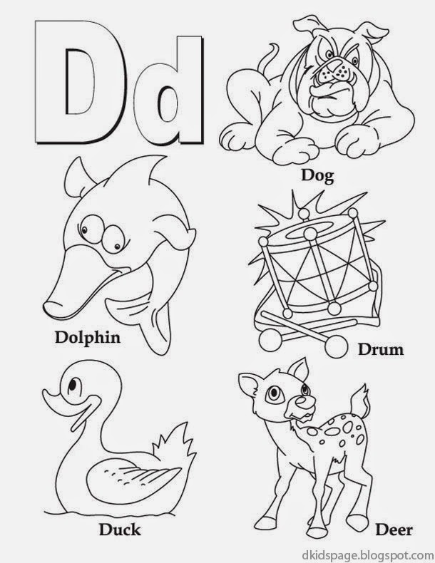 kids page letter d alphabet letters printable worksheet for kids. Black Bedroom Furniture Sets. Home Design Ideas