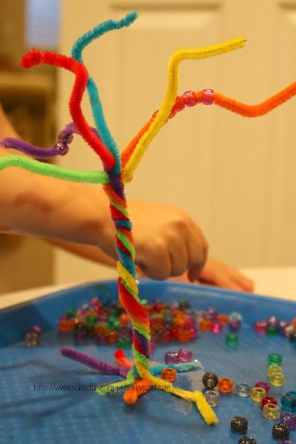 toddler/ preschool color fine motor activity