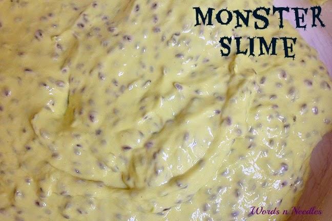 textured basil seeds slime