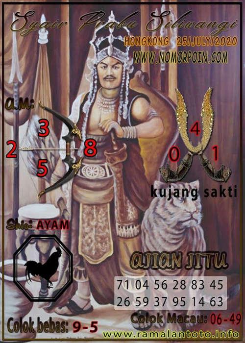 Kode syair Hongkong Sabtu 25 Juli 2020 269