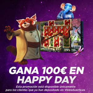 Vivelasuerte gana 100 euros en el happy day 19 octubre