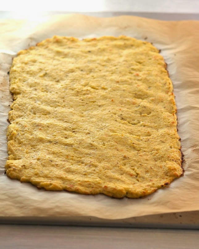 Making Cauli Crust Stromboli