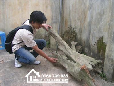 Gỗ ngọc am. Tượng gỗ để xe Đà Nẵng.