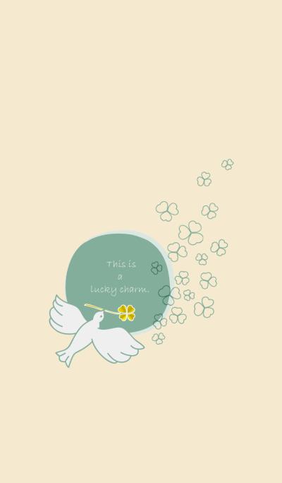 Golden clover and White little bird