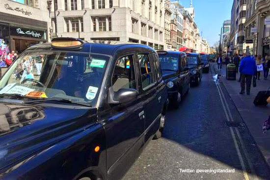 TfL Protest London Taxi UGC