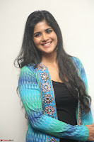 Megha Akash in a beautiful Anarkali dress with Long Jacket at LIE success meet ~  Exclusive Celebrities Galleries 011.JPG