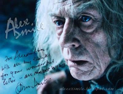 John Hurt autograf, autograph, Ollivander Harry Potter
