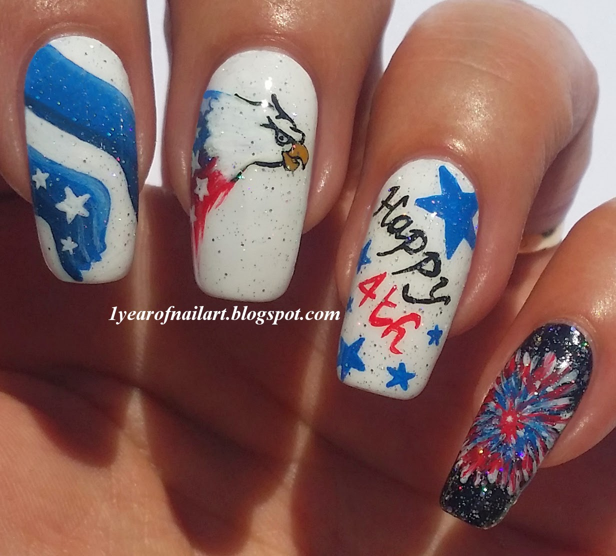 365 Days Of Nail Art March 2014: 365+ Days Of Nail Art: Happy 4th Of July