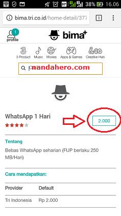 paket whatsapp kartu 3