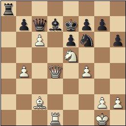 Partida de ajedrez Albareda - Bordell, 1957, posición después de 26.c6!