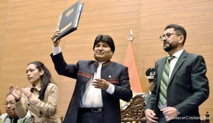 Evo Morales y loes evangélicos