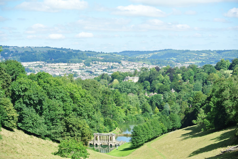Prior Park view of Bath