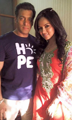Salman Khan and Sara Khan on the sets of Mental
