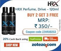 HRX Perfume: Buy 2 Get 3 Free + Extra 20% Cashback with PayUmoney @ Zotezo